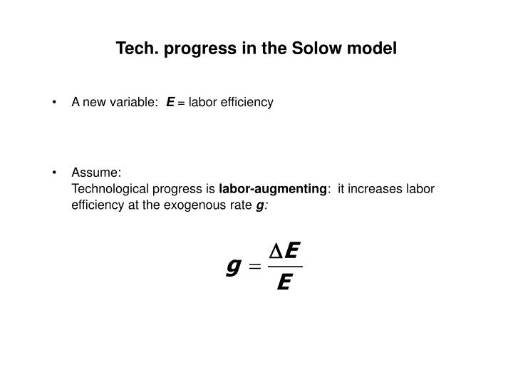 Tech. progress in the Solow model