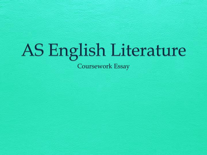 English Literature With Creative Writing