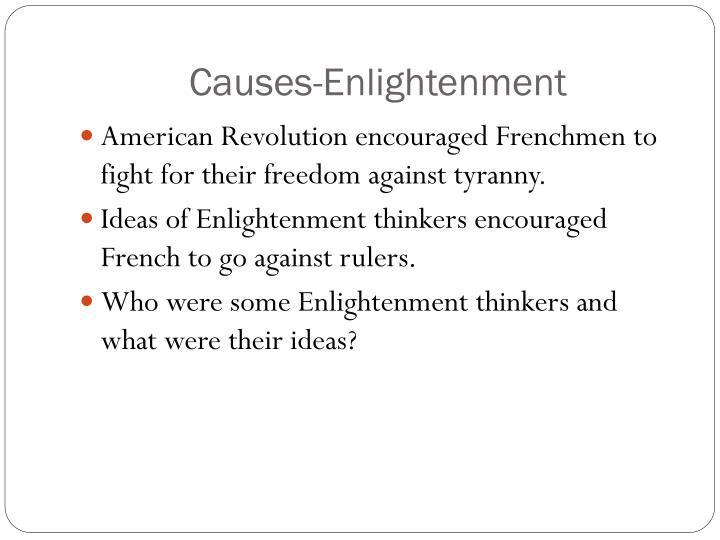 Causes-Enlightenment