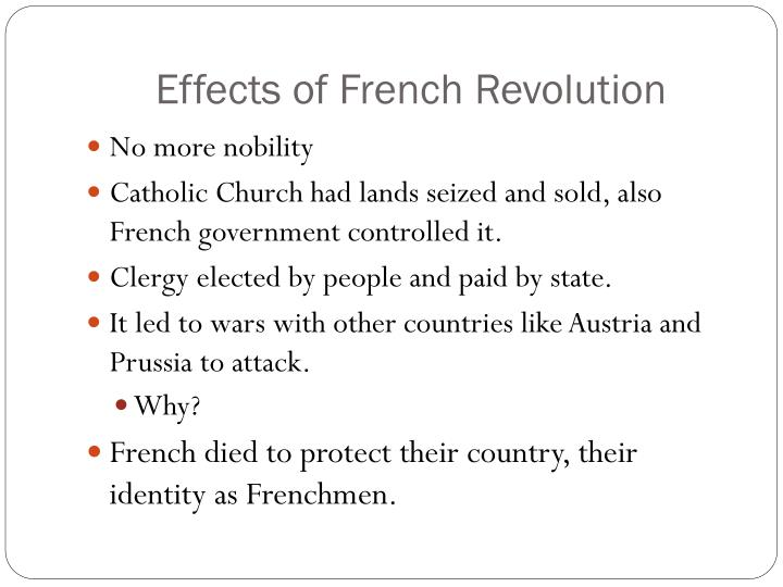 Effects of French Revolution