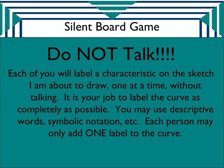 Silent board game