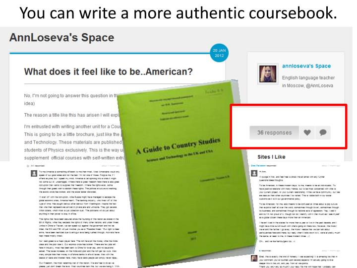 You can write a more authentic