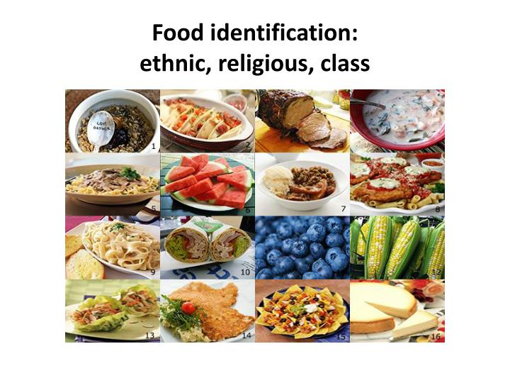 Food identification: