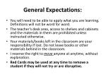 general expectations1