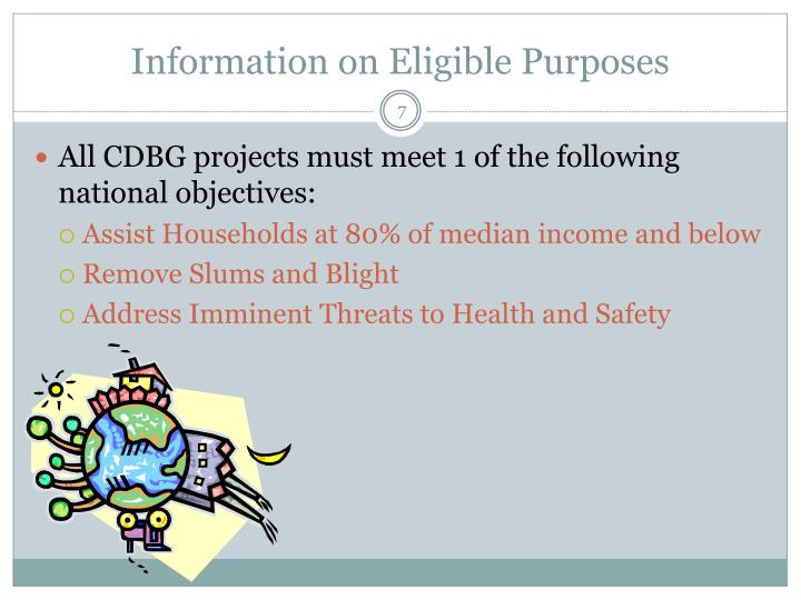 Information on Eligible Purposes