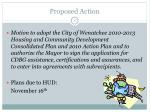 proposed action
