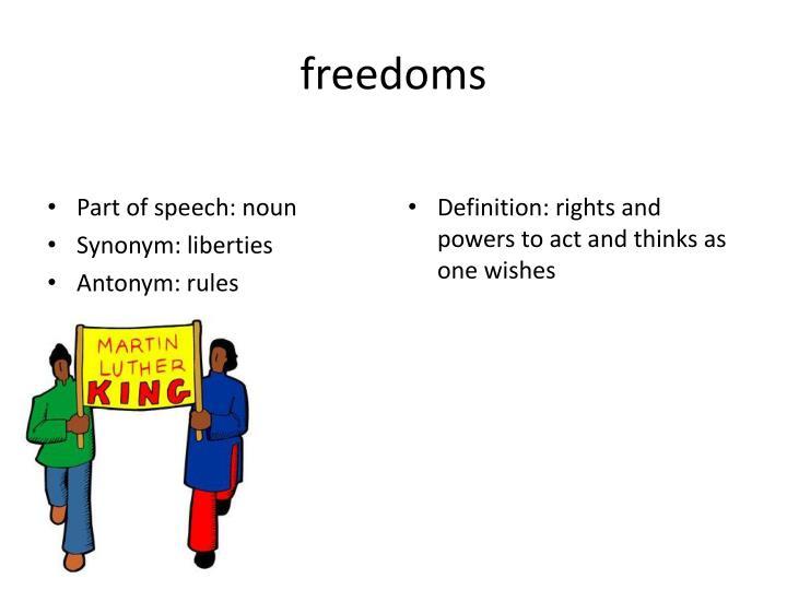 freedoms