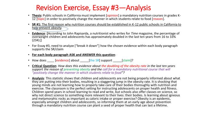 Essay On Exercise