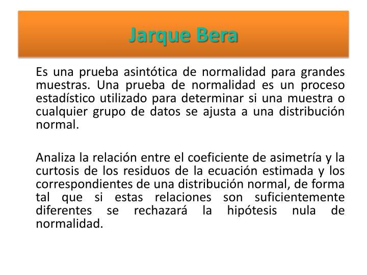 Jarque Bera