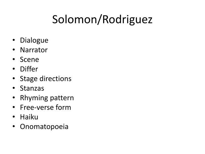 Solomon/Rodriguez