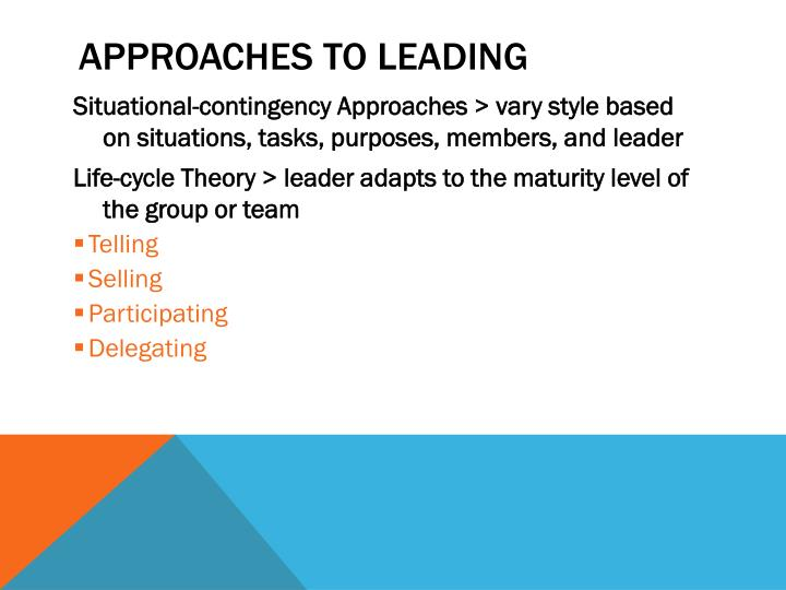 Approaches to Leading
