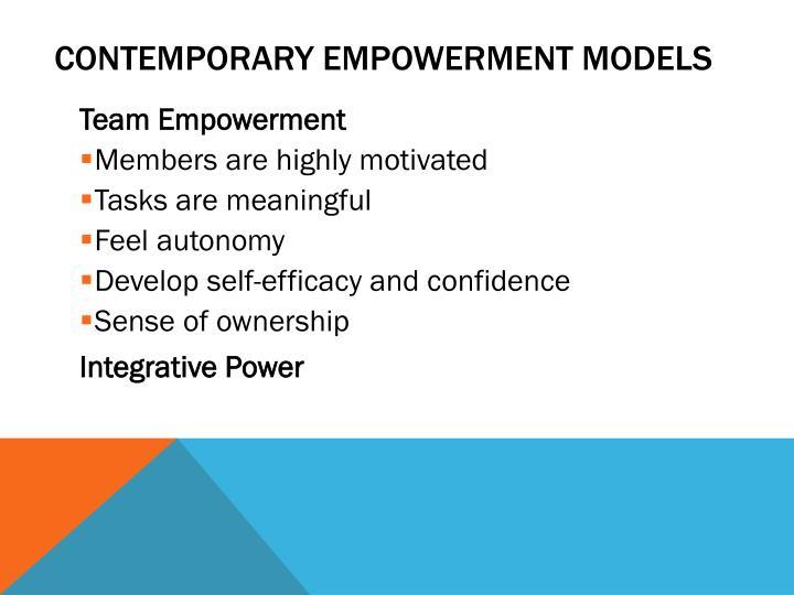 Contemporary Empowerment Models
