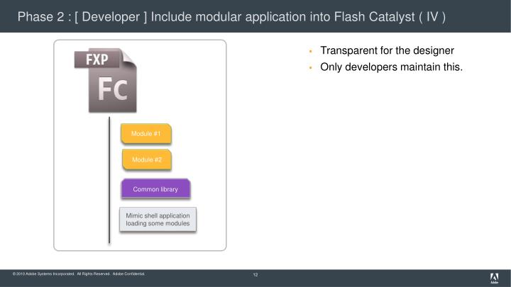 Phase 2 : [ Developer ] Include modular application into Flash Catalyst ( IV )