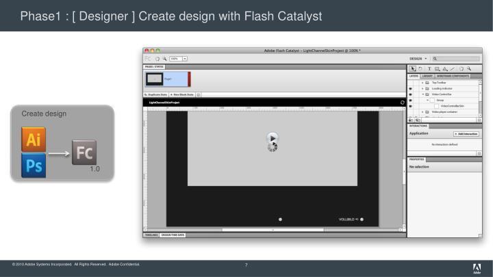 Phase1 : [ Designer ] Create design with Flash Catalyst