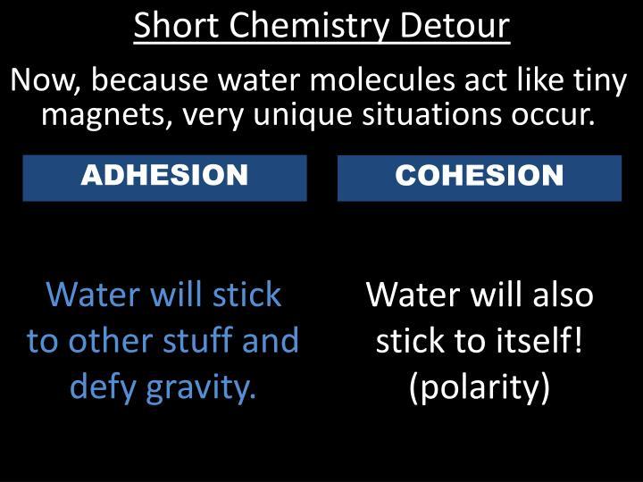 Short Chemistry Detour