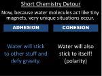 short chemistry detour5