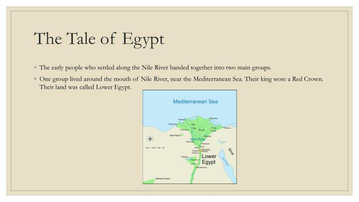 The tale of egypt
