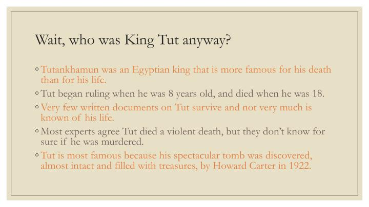 Wait, who was King Tut anyway?
