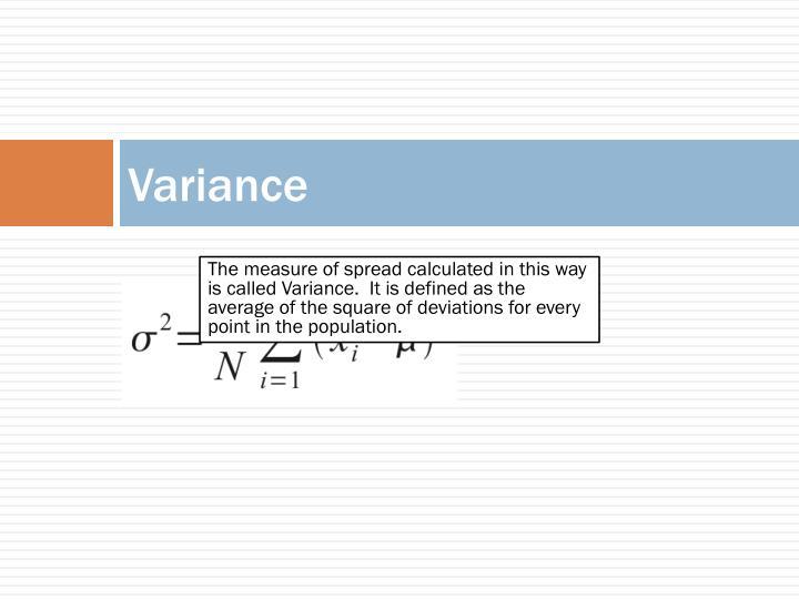 Variance