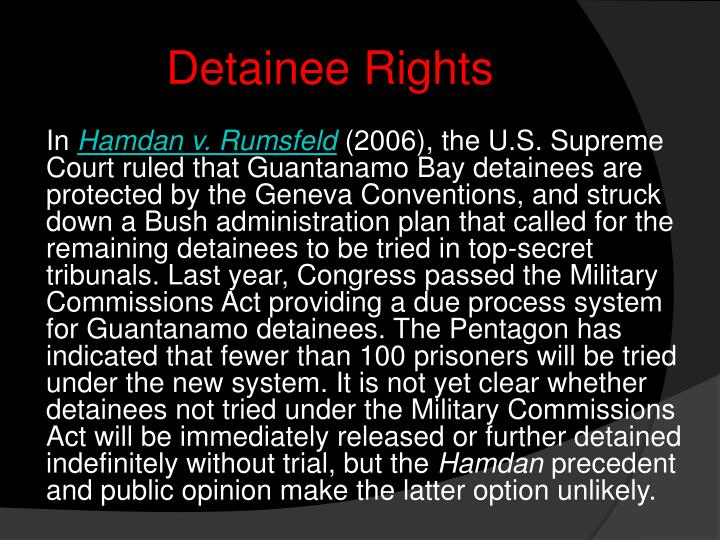 Detainee Rights