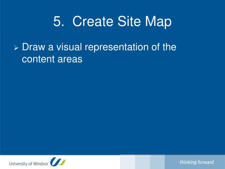 5.  Create Site Map