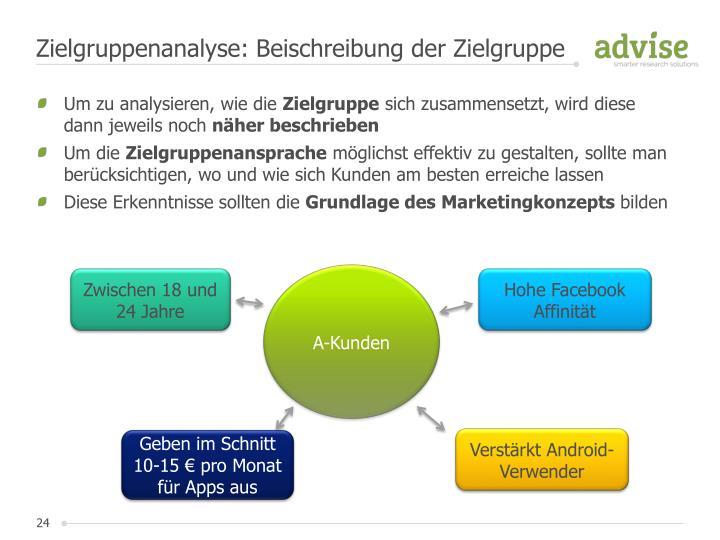 Zielgruppenanalyse: Beischreibung