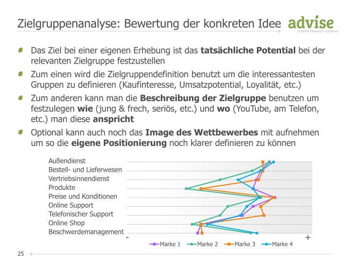 Zielgruppenanalyse: Bewertung