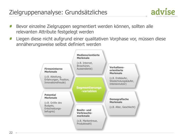 Zielgruppenanalyse: Grundsätzliches