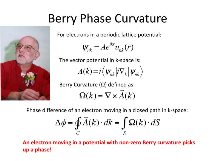Berry Phase Curvature