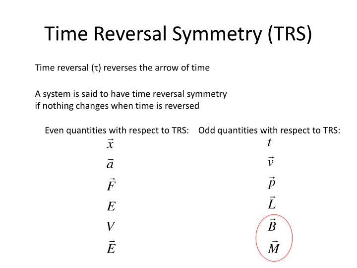 Time Reversal Symmetry (TRS)