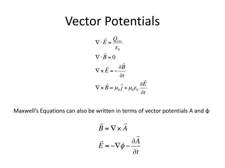 Vector Potentials
