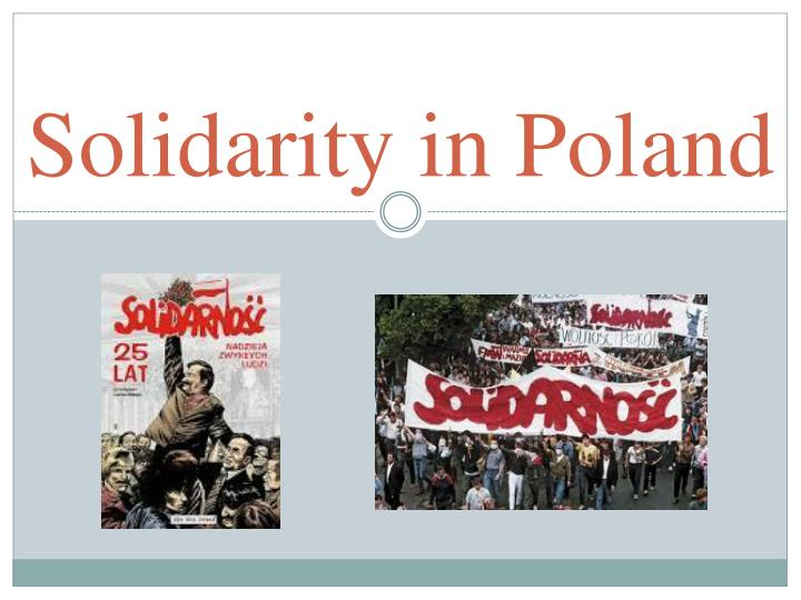 Solidarity in Poland