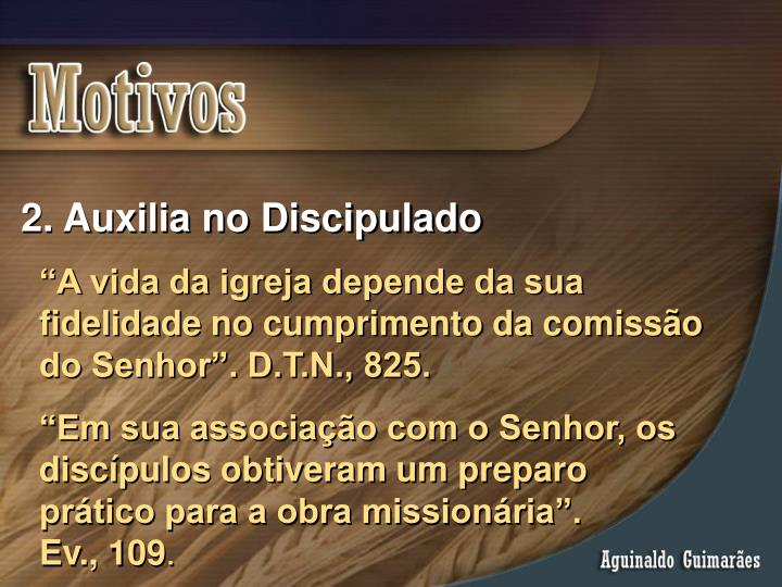 Auxilia no Discipulado