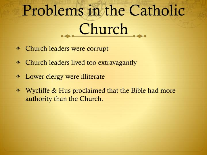 prereformation church was a corrupt and