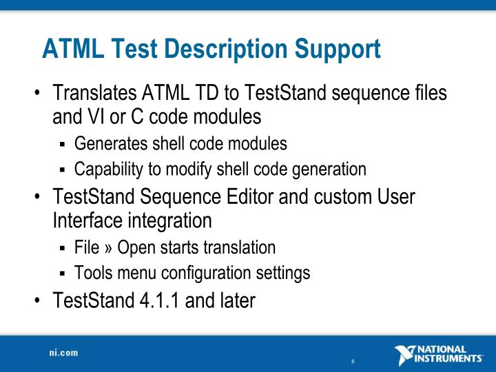 ATML Test Description Support