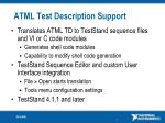 atml test description support