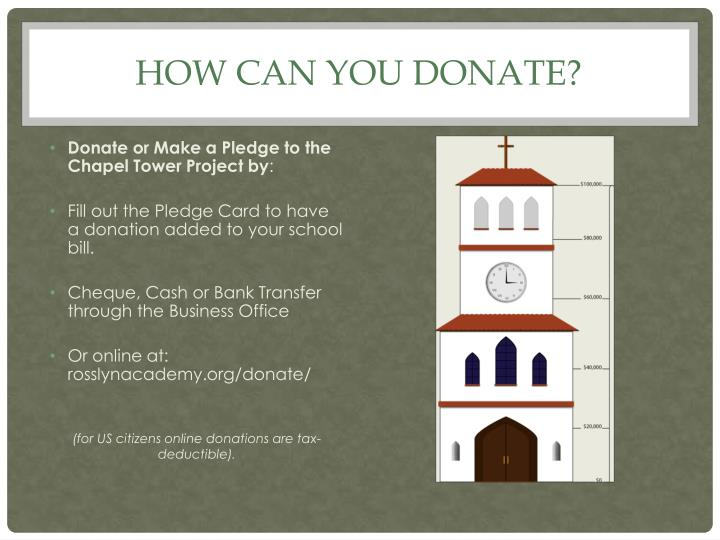 How can you donate?