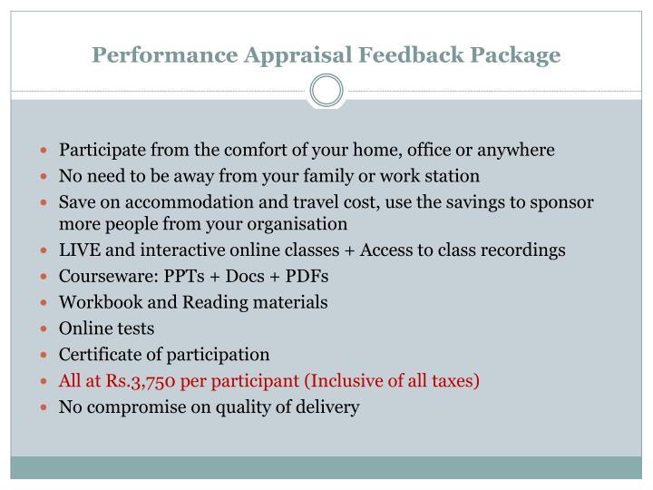 Performance Appraisal Feedback Package