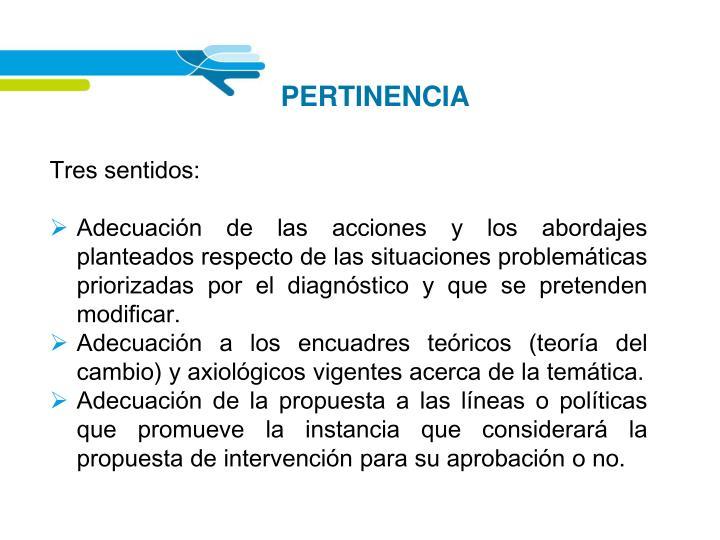 PERTINENCIA