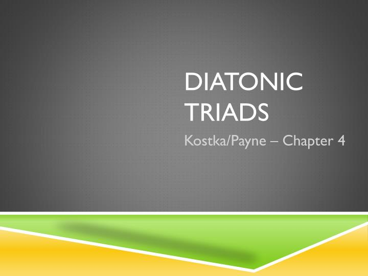 Diatonic triads