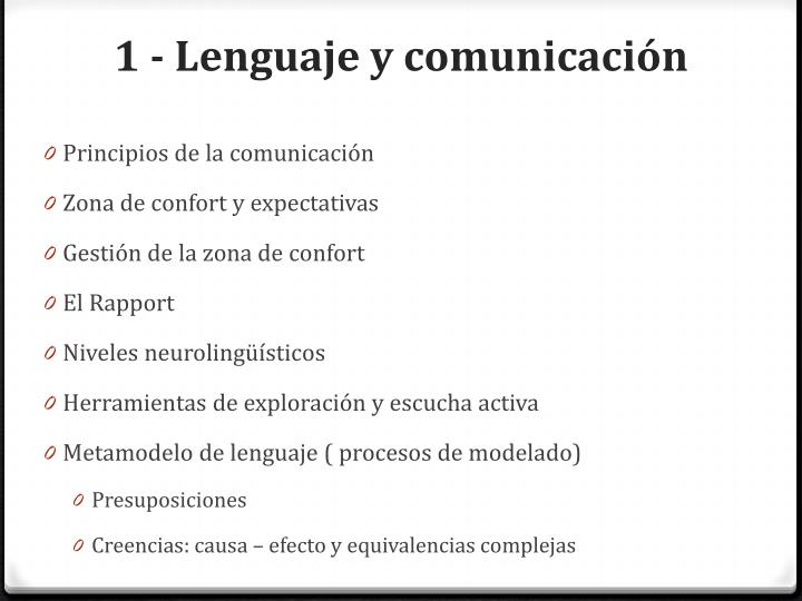 1 - Lenguaje y comunicación