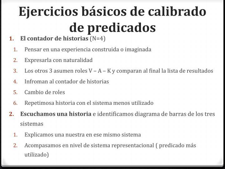 Ejercicios básicos de calibrado de predicados