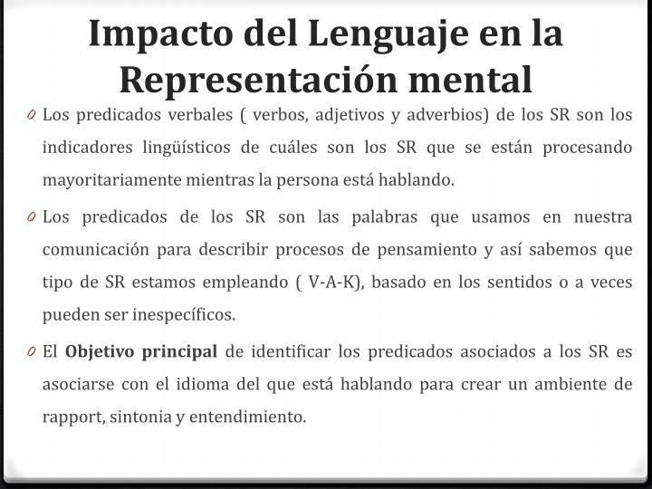 Impacto del Lenguaje en la Representación mental