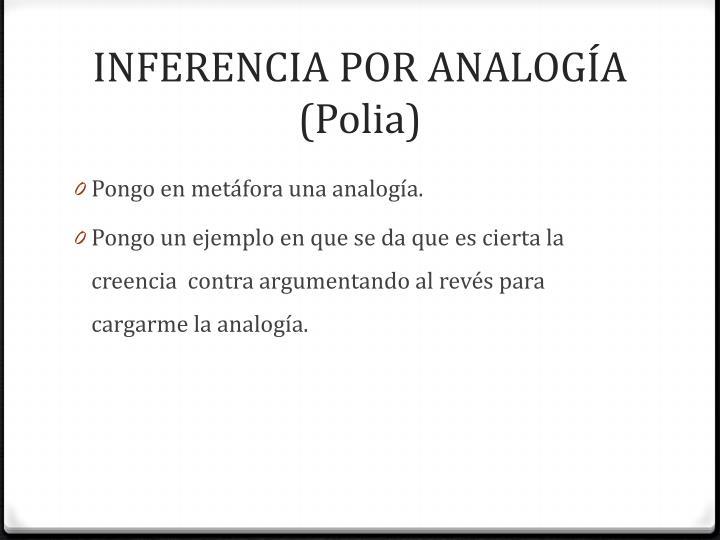 INFERENCIA POR ANALOGÍA (