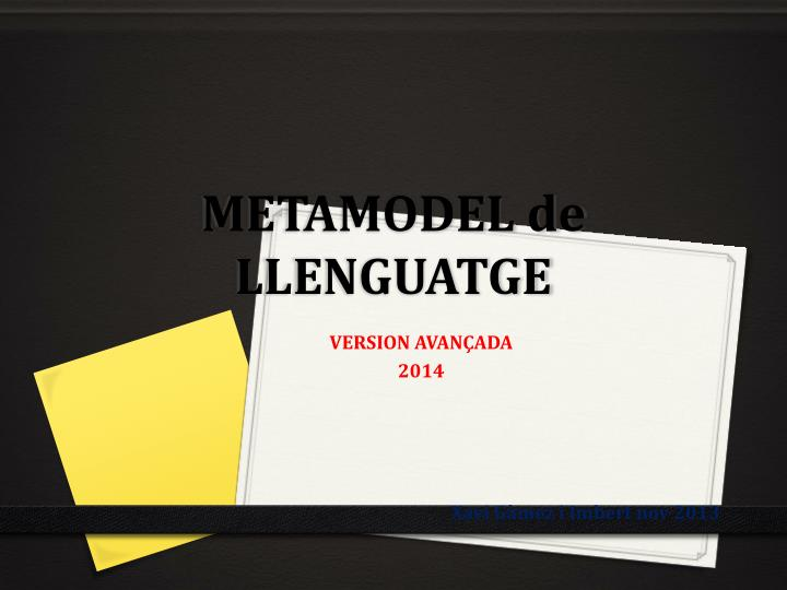 METAMODEL de LLENGUATGE