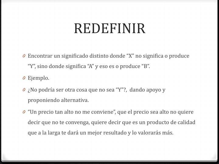 REDEFINIR