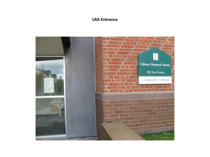 LRA Entrance