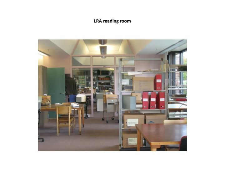 LRA reading room