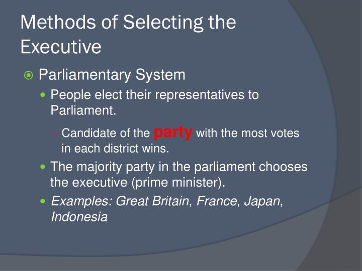 Methods of Selecting the Executive