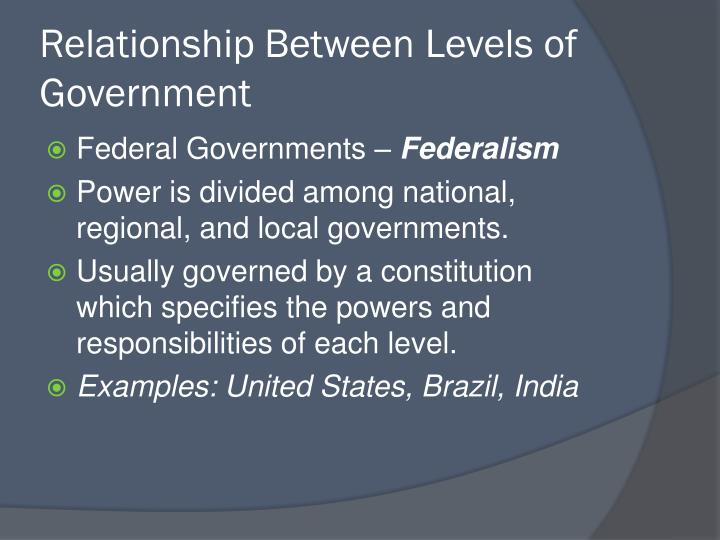 Relationship Between Levels of Government